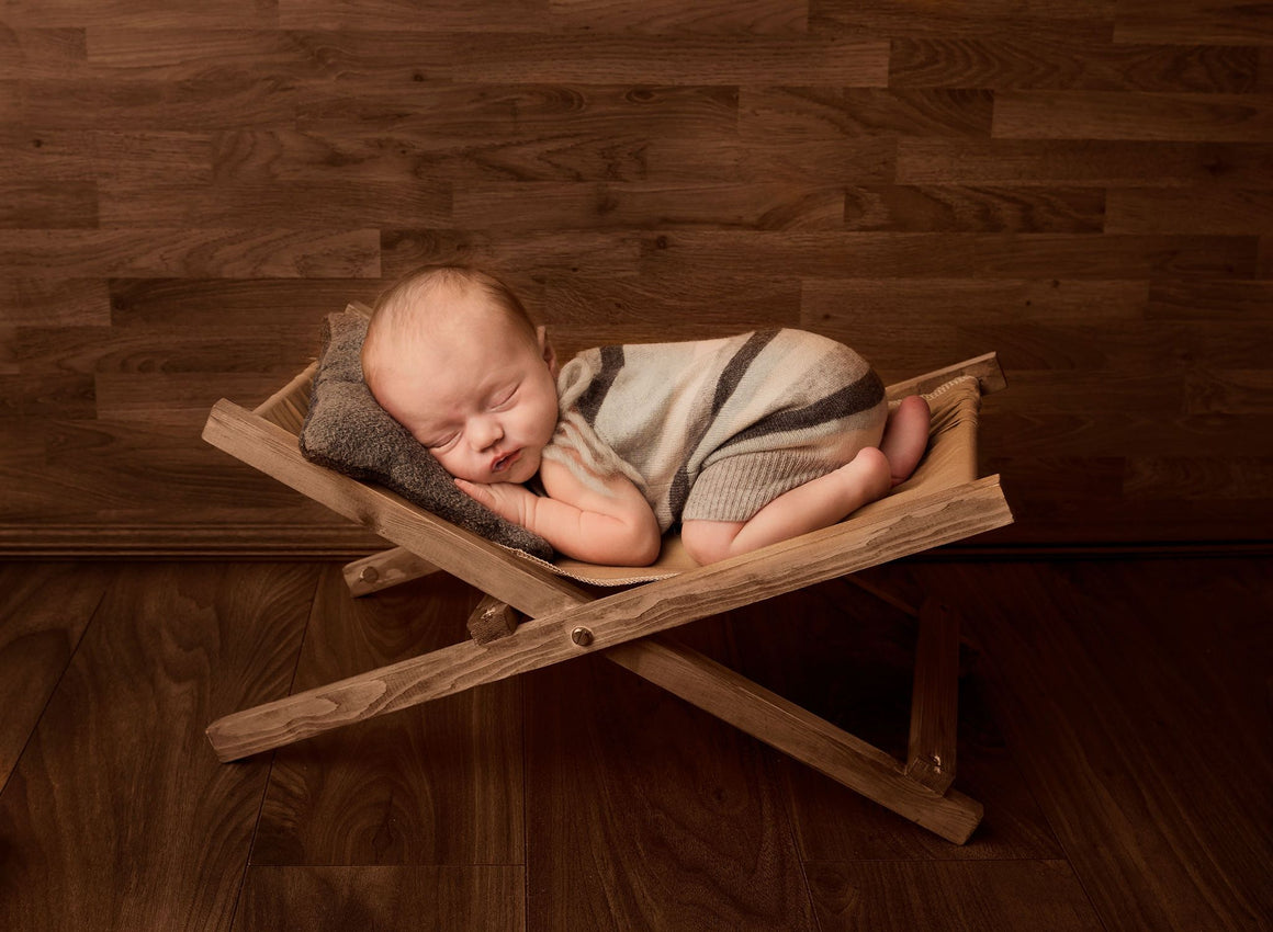 Rustic Handmade Folding Loungers - Newborn Photography Prop - Newborn