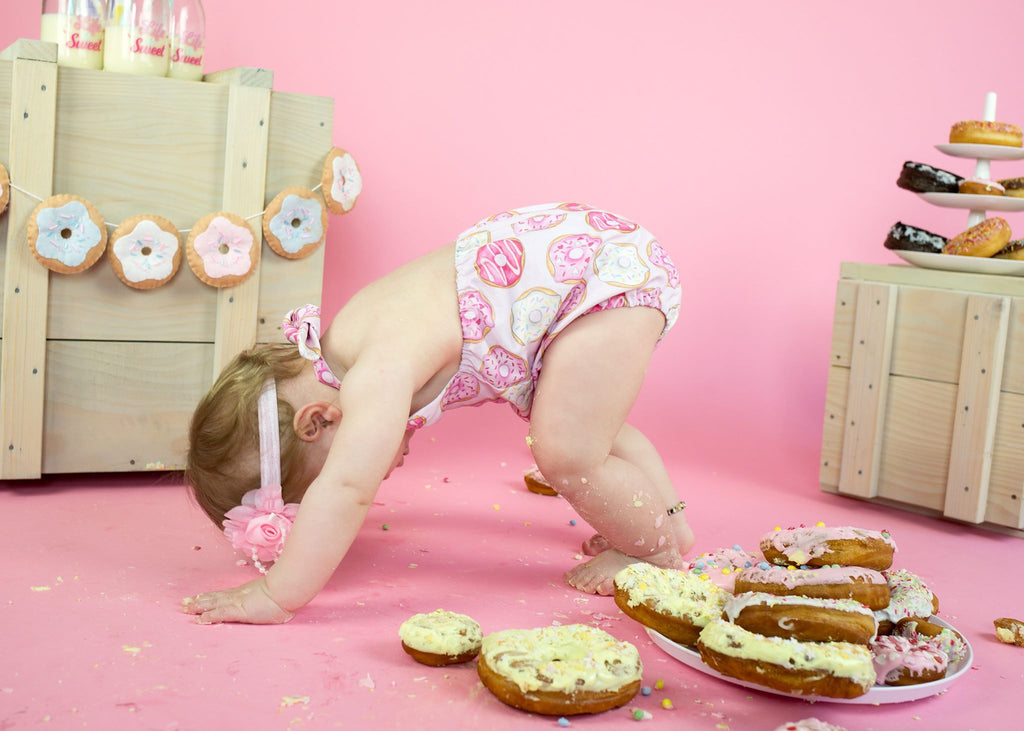 Girls donut cake smash outfit