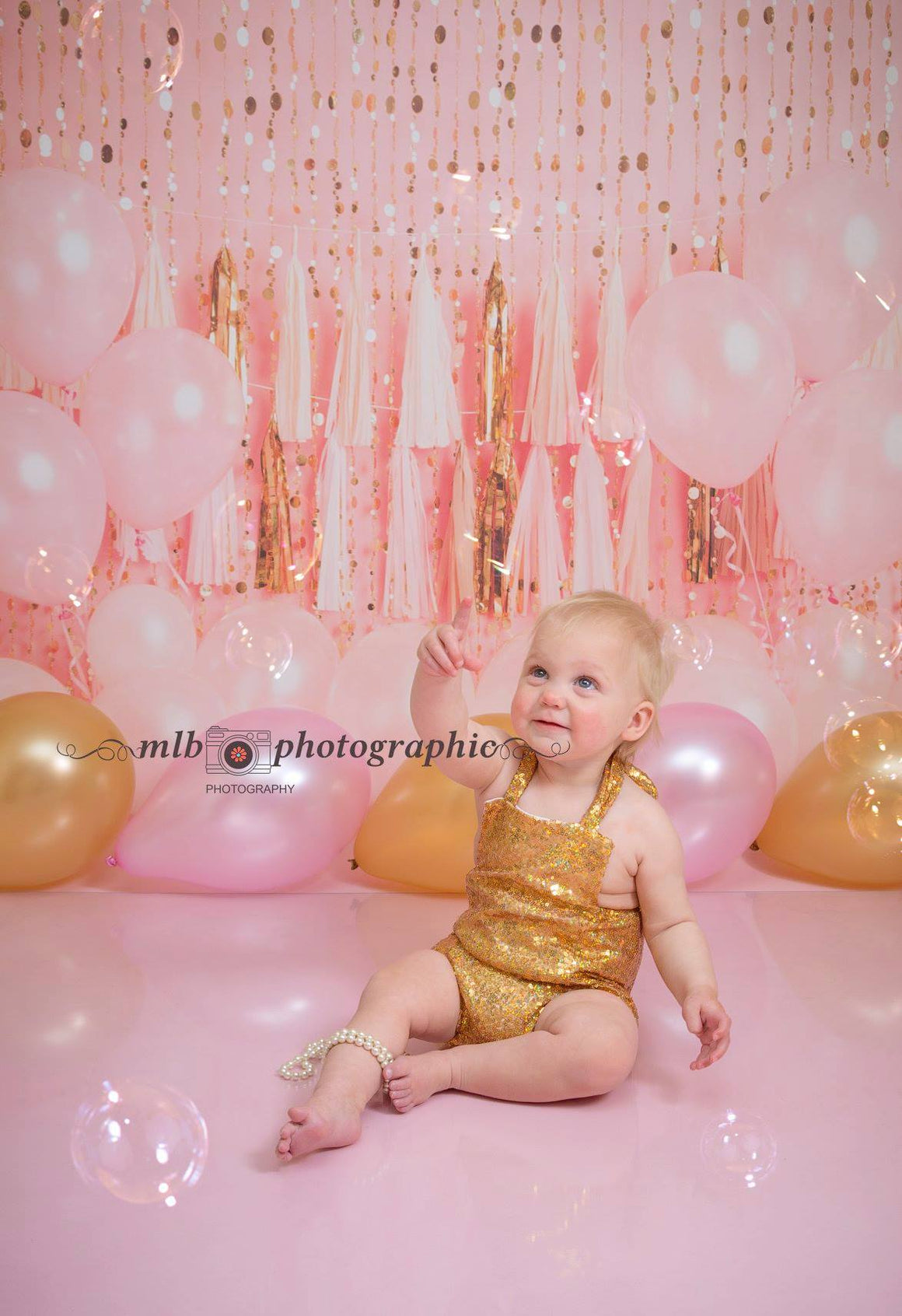 Gold Romper Cake Smash
