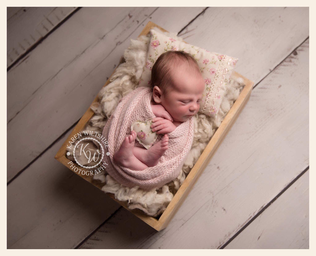 White Vintage Inspire Dual Drawer and Crate - Photography Prop - Newborn Photography - Sitter Photography - RTS