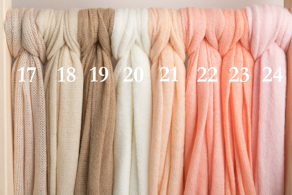 4 Way Knit Stretch Wraps - Newborn Photography