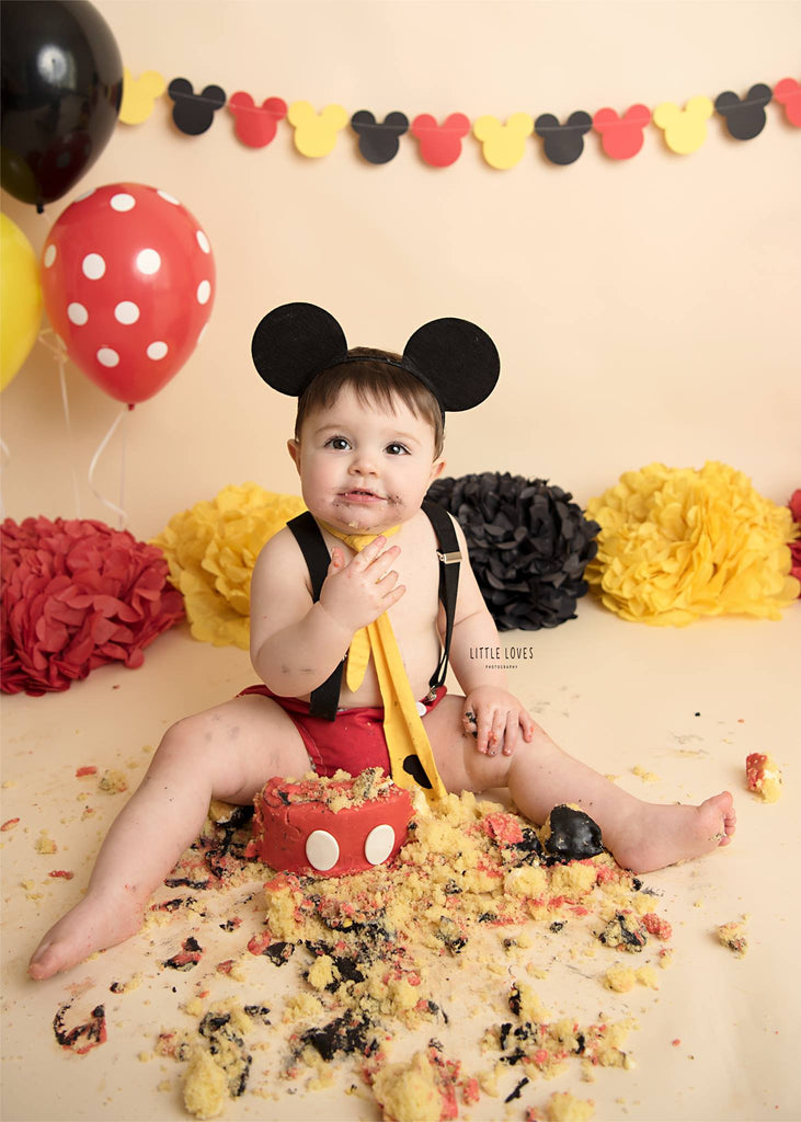 Boys Mickey Mouse Cake Smash Outfit - 12-18 mths - First Birthday