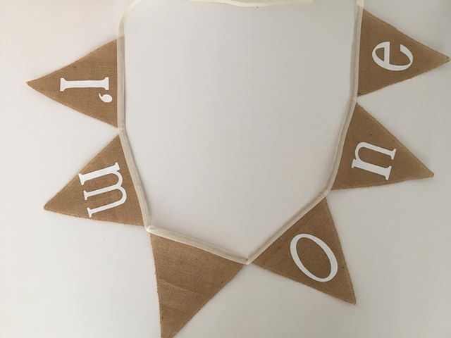 Custom made personalised bunting