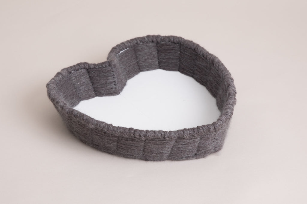 Mohair heart shape Bowl - Newborn Photography - choice of colours - newborn photo shoot
