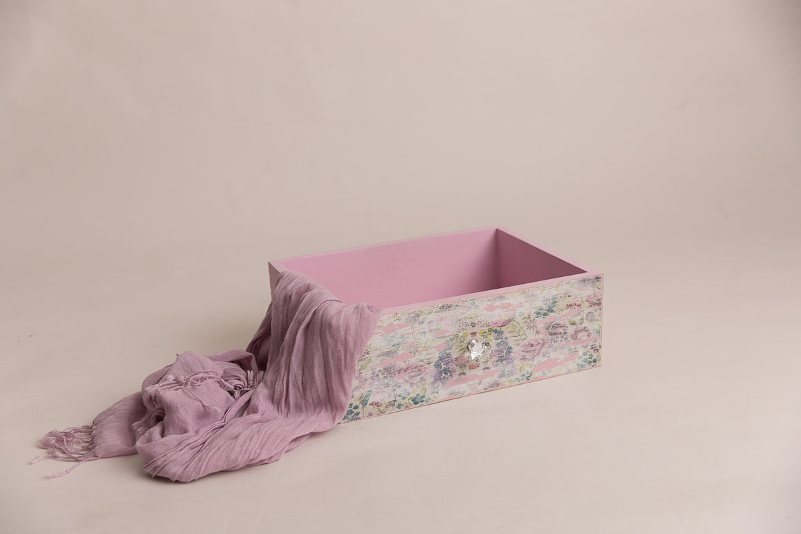 Pink Vintage Inspire Dual Drawer and Crate - Photography Prop - Newborn Photography - Sitter Photography - RTS