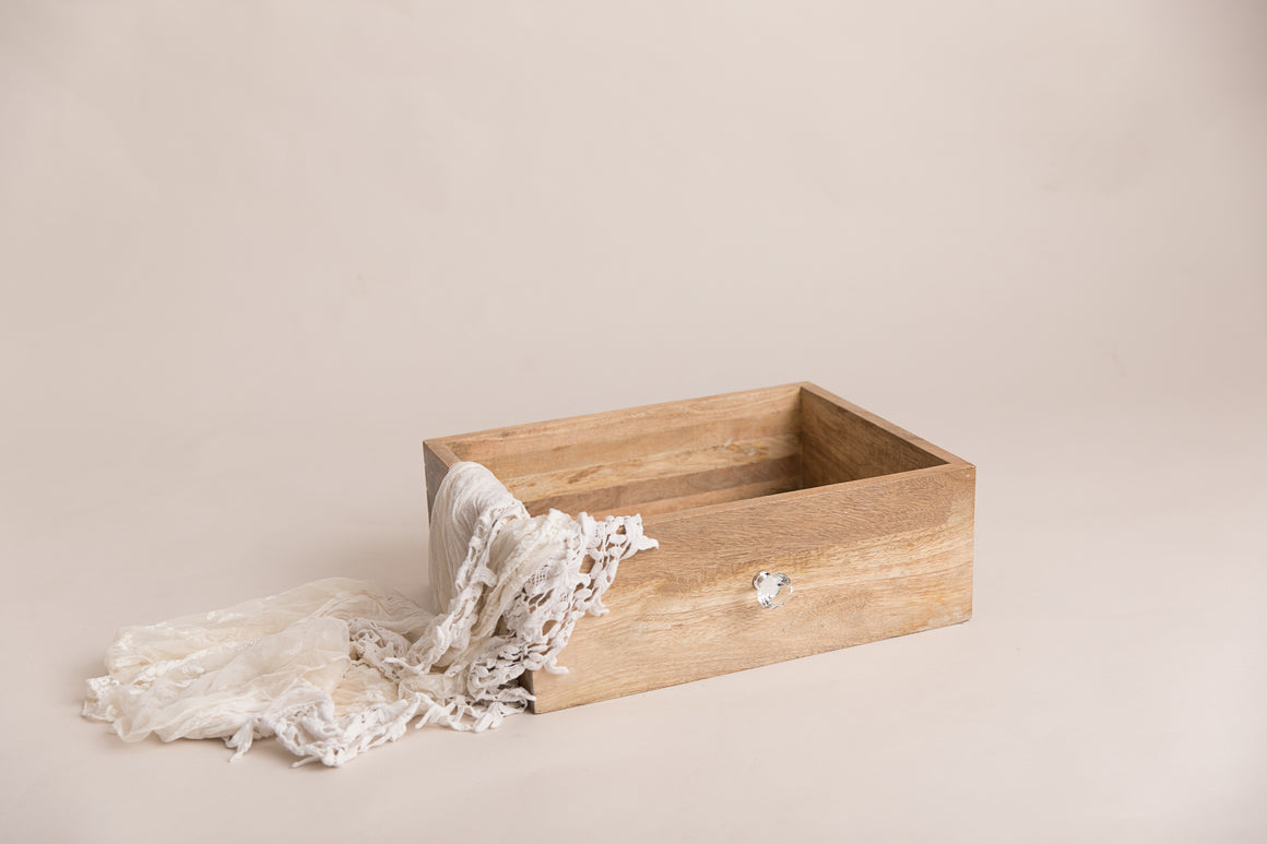 Wooden Vintage Inspire Dual Drawer and Crate - Photography Prop - Newborn Photography - Sitter Photography - RTS