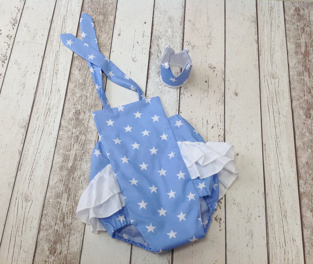 girls cake smash romper