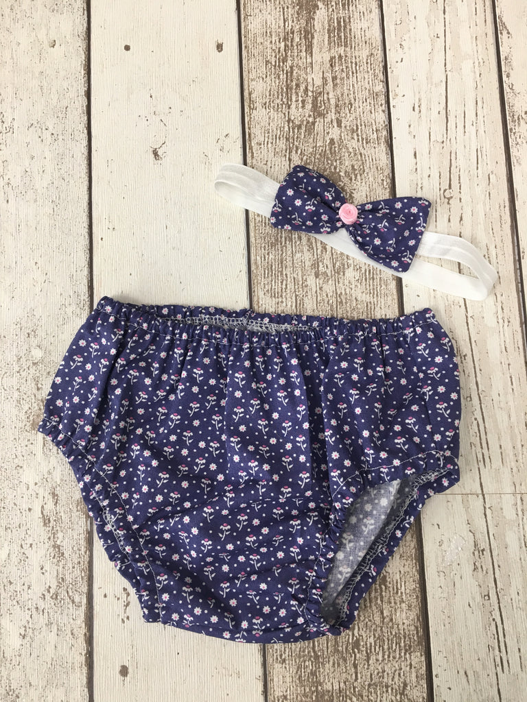 Girls Flower Cake Smash Pants with Headbands - age 12-18 months