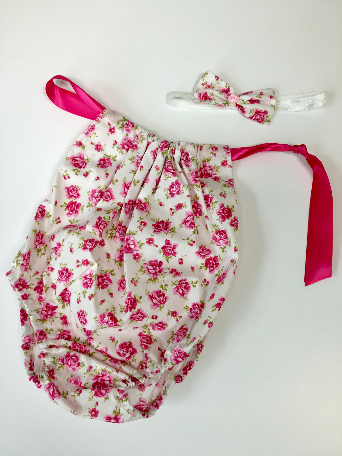 Girls Sitter Set - Flower Romper and Headband- age 6-12 months. Ready to Post