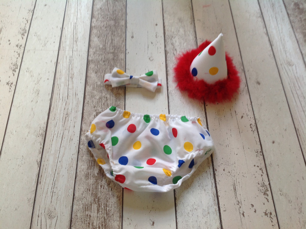 Boys Spotty Cake Smash Outfit