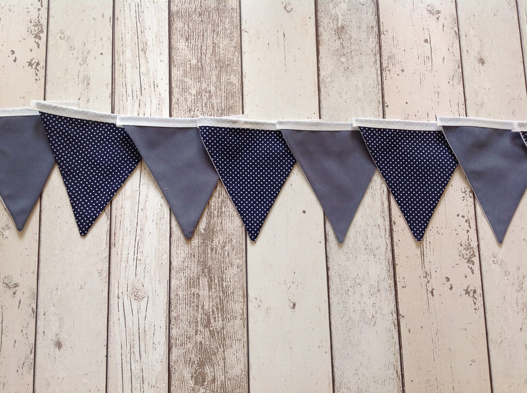 Blue and grey bunting