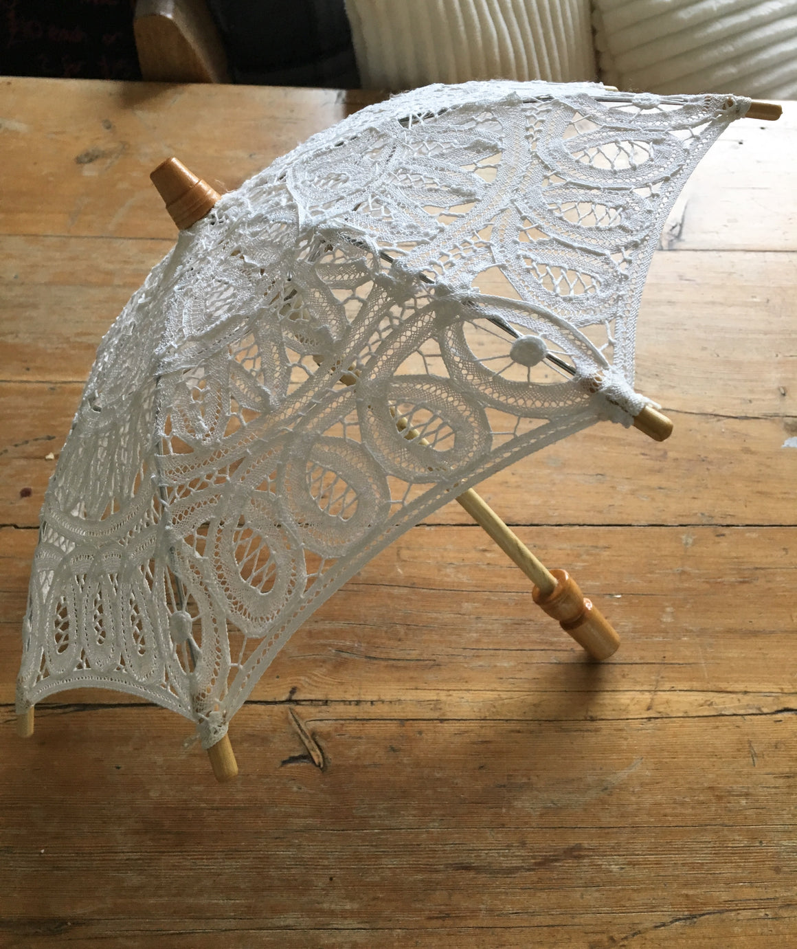 Cream Vintage Inspired parasol - Ideal newborn prop