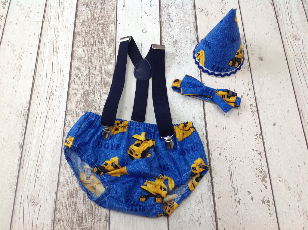 Boys Tractor Cake Smash Outfit