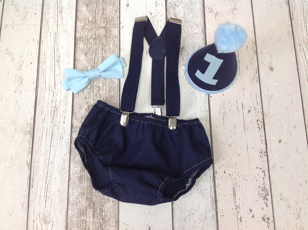 Boys Navy Cake Smash Outfit