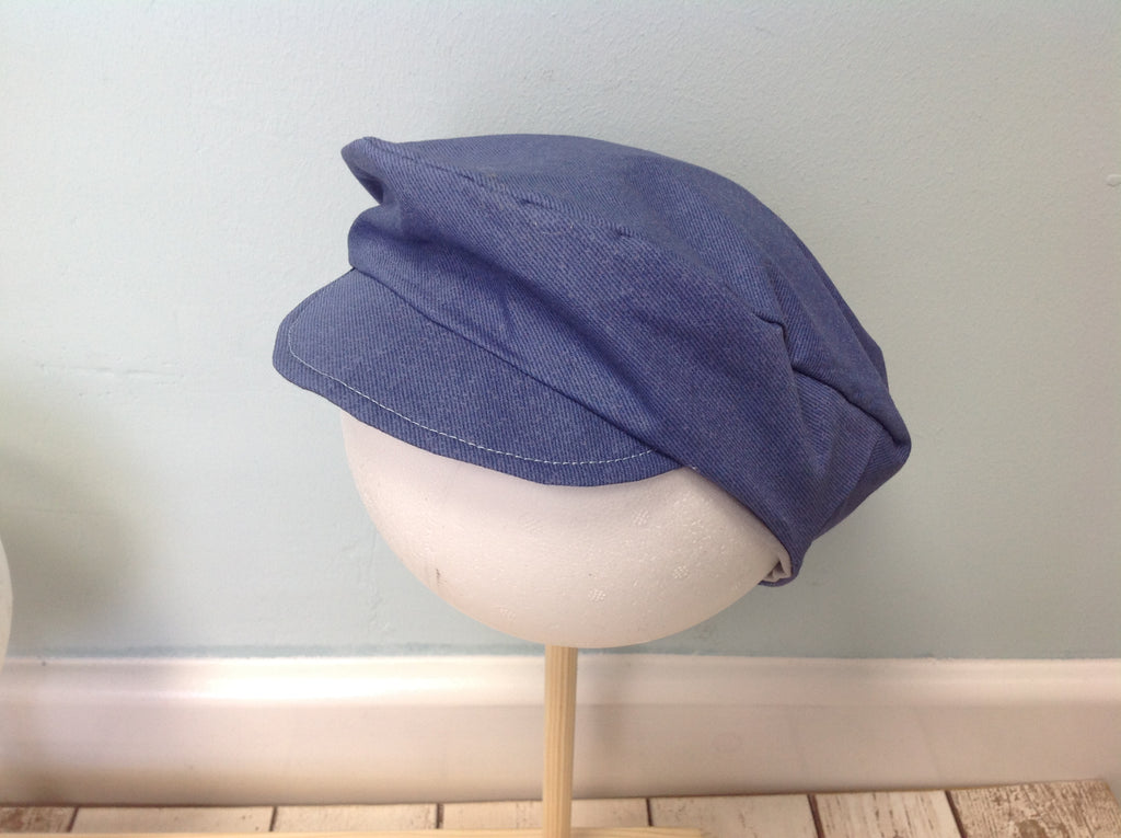 Boys Blue Flat Cap - Age 1-2 Years - Photography - Ready to Post