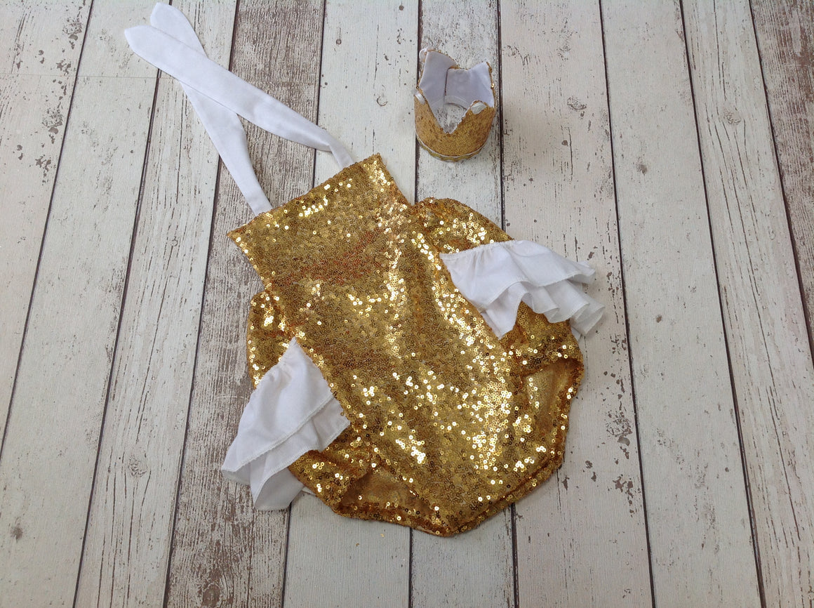 Gold Glitter Cake Smash outfit