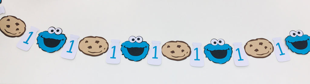 Cake Smash Cookie Monster Bunting