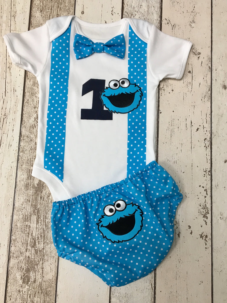 Boys Blue Cookie Monster outfit