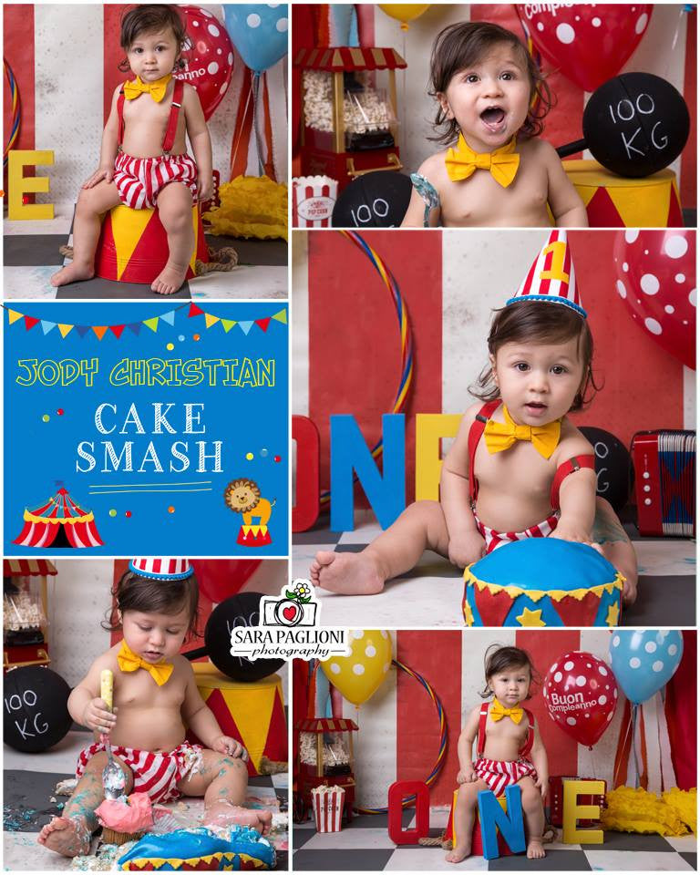 Boys Circus Themed Cake Smash Outfit