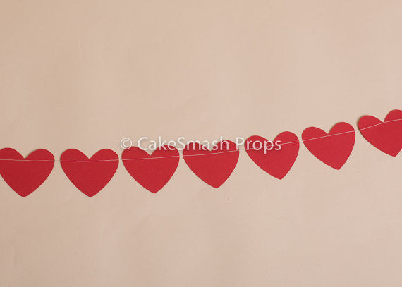 Love Heart Paper Bunting