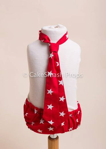 Red Star Cake Smash Outfit