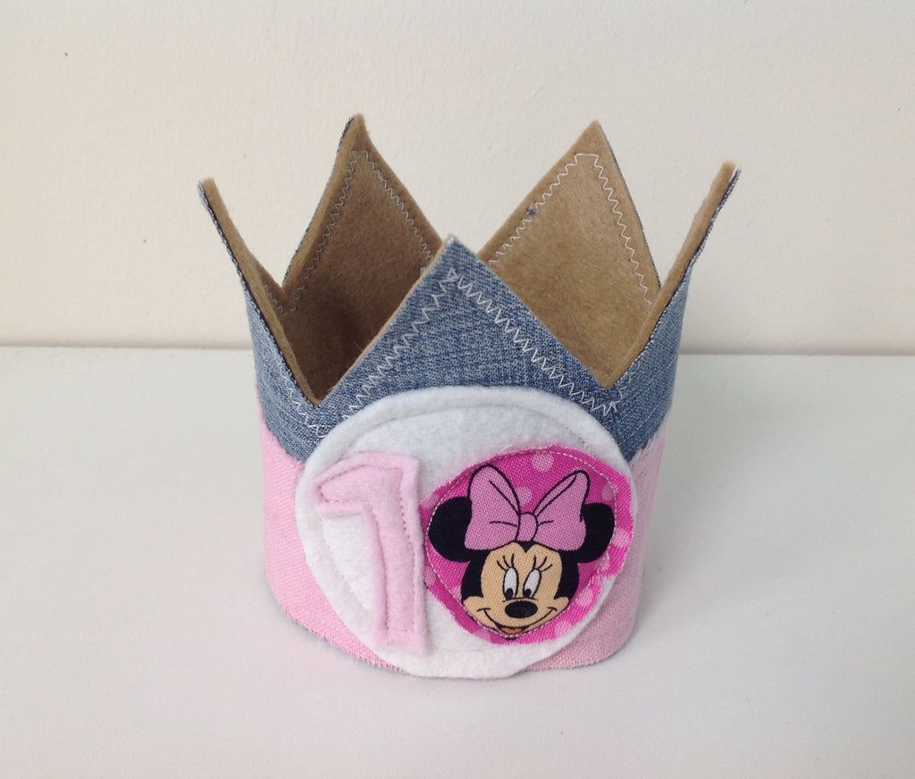 Girls Minnie Mouse Crown - Birthday - Party - Photography