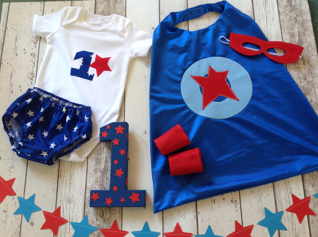 Blue, Red Star/ White Star Painted 1