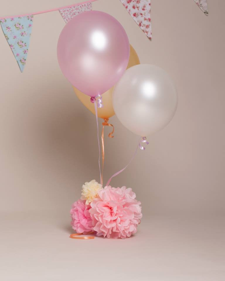 Tissue paper pom pom, flower balls for cake smashes, newborn shoots, weddings, party and home decoration