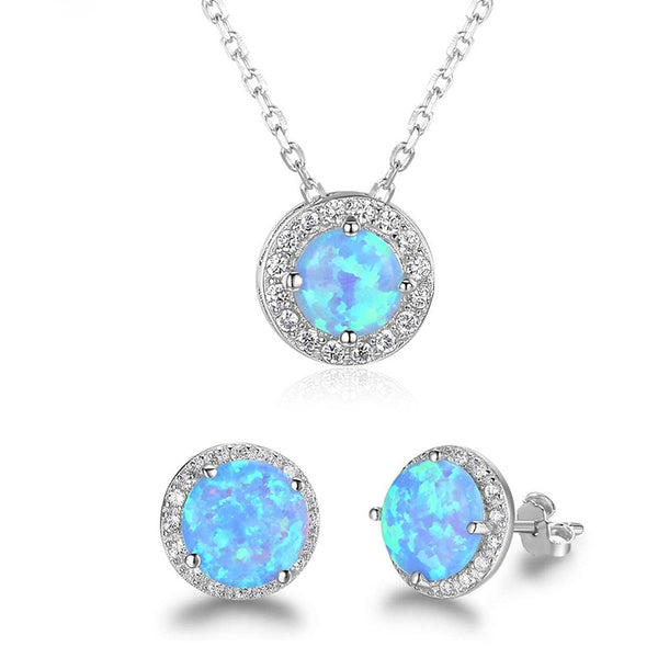 Blue eyes silver set