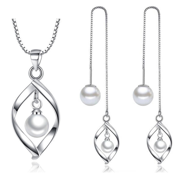 Pearl silver set
