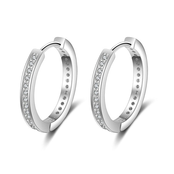 Sparkles silver hoops