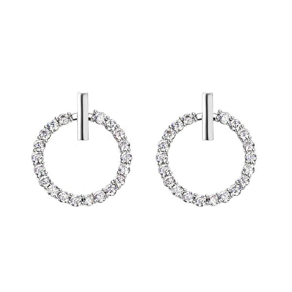 Sparkling silver earrings