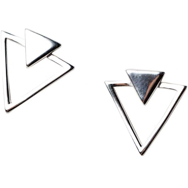Triangles silver studs