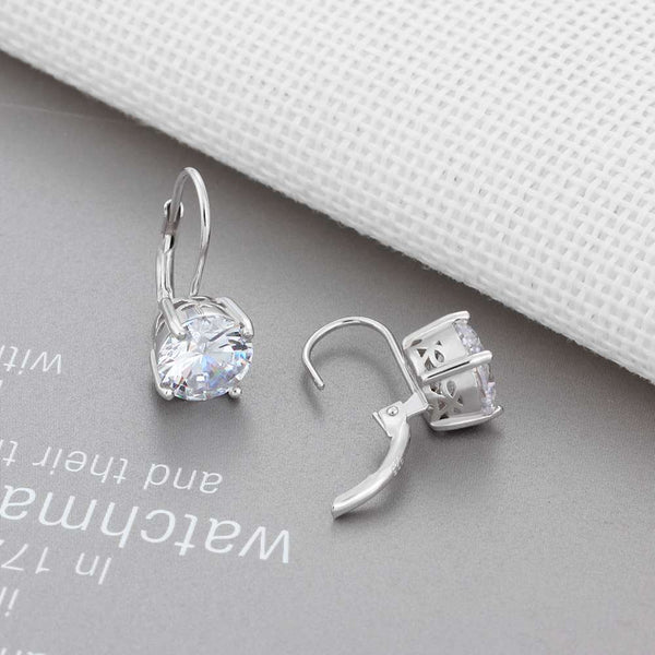 Charm silver earrings