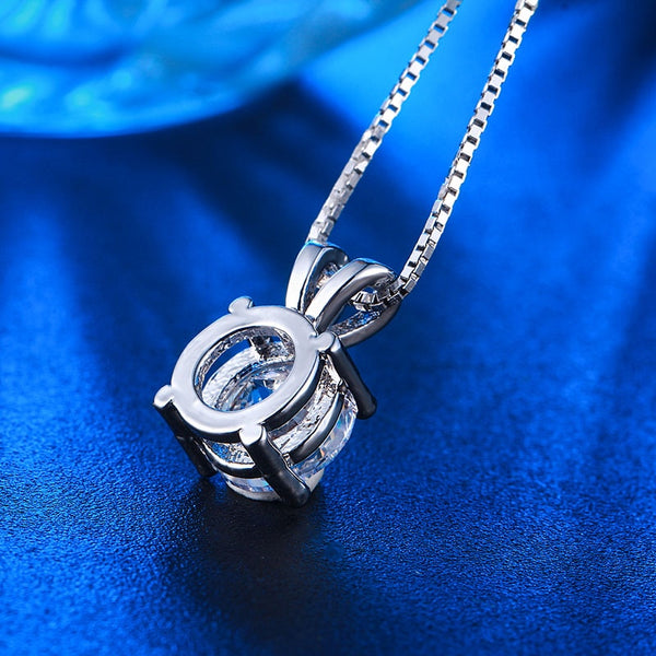 Charm silver necklace