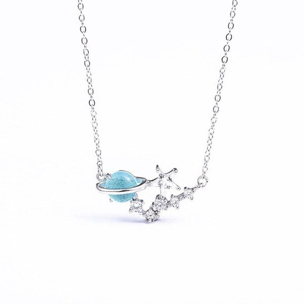 Space silver necklace