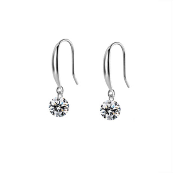 Bedazzle silver earrings