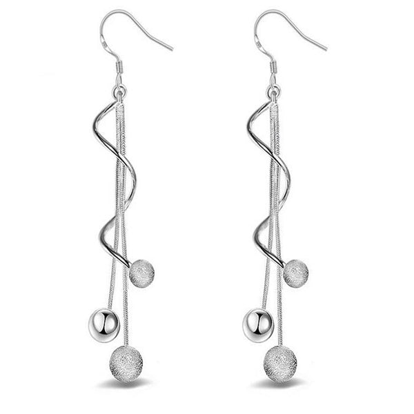 Celestine silver earrings