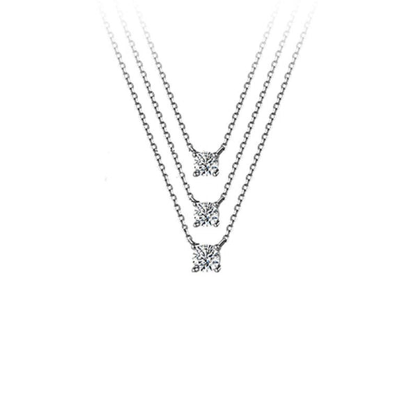 Elegante silver necklace