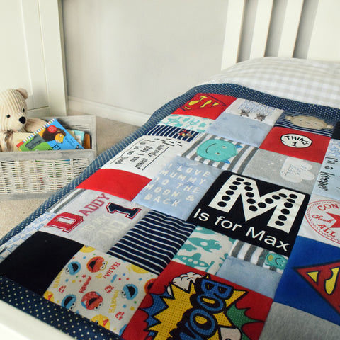 Luxury Keepsake Quilts And Blankets Made From Baby Clothes Pretty
