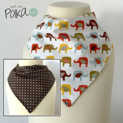 Safari Ellies Reversible Dribble Bib