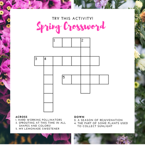 Spring Has Sprung Crossword Puzzle