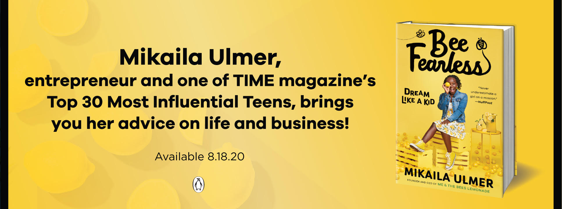 Bee Fearles Book banner - Mikaila Ulmer