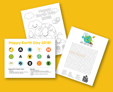 Earth Day Word Search Puzzles Coloring Pages And DIY Magnets Are Fun Educational Ways To Celebrate By Downloading Completing Any Of The