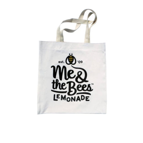 Me & the Bees White Canvas Tote Bag