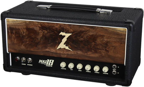 Dr. Z Maz 18 Jr NR Head - Custom Burl Walnut #2
