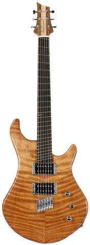 American Exotic Guitars DC-Multi, Flamed Redwood and Walnut - Humbucker Music