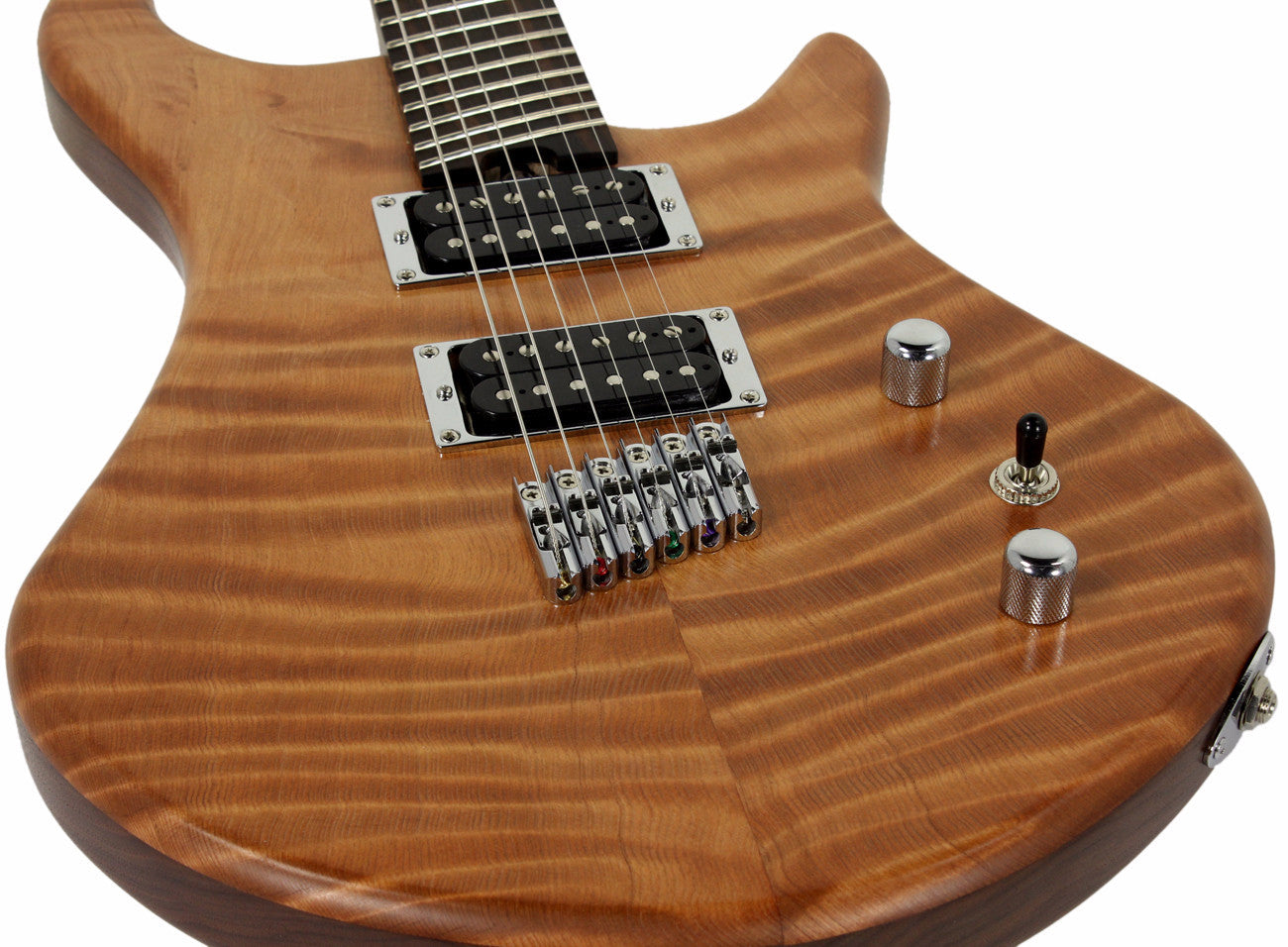 American Exotic Guitars Dc Multi Flamed Redwood And Walnut Description Shop Policies 2013 Gibson Les Paul Wiring Harness Pots Humbucker Music
