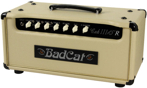Bad Cat Cub III 15R Reverb Head - Cream - Humbucker Music