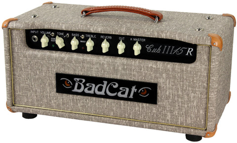 Bad Cat Cub III 15R Reverb Head - Fawn Slub - Humbucker Music